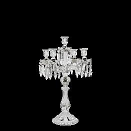 Kerzenleuchter Pampille 5-armig transparent