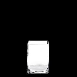 Plattenständer aus Glas 15 x 15 cm H 20 cm