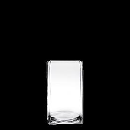 Plattenständer aus Glas 23 x 23 cm H 30 cm