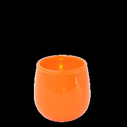 Tischlicht korallenrot Ø 5,5 cm H 6,5 cm
