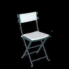 Stuhl Trocadero grün Sitzkissen und Rückenpolster weiss
