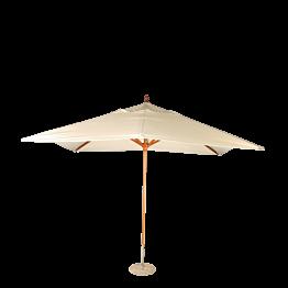 Sonnenschirm Louisiane ecru 300 x 300 cm + Granitsockel Ø 50 cm