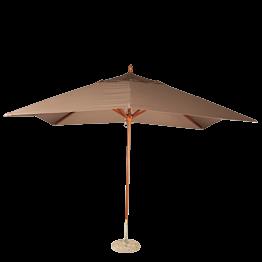 Sonnenschirm Louisiane taupe 300 x 300 cm + Granitsockel Ø 50 cm