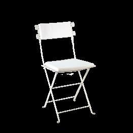 Stuhl Trocadero weiss mit Sitzkissen und Rückenpolster weiss