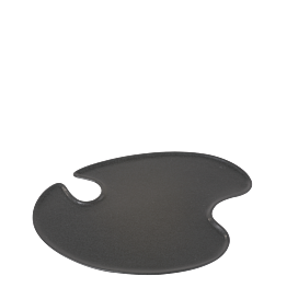 Cocktailteller schwarz 18 x 20 cm