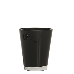Champagnerkühler schwarz Ø 20 cm H 25 cm