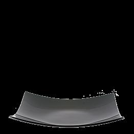 Glasteller quadratisch rauchschwarz 29 x 29 cm