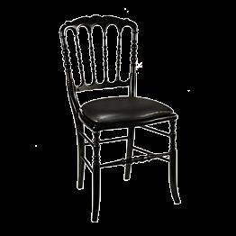 Stuhl Napoleon III schwarz Chintz schwarz
