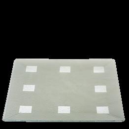 Glasplatte Damier silber 40 x 40 cm