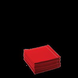 Stoffservietten 2-faltig rot 20 x 20 cm (30 Stück)