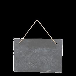 Schieferplatte Vintage zum Aufhängen 30 x 19,8 cm