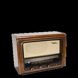 Vintage Radio im Retro-Stil aus Holz 52 x 19,5 cm H 38 cm