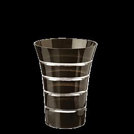 Becher Pfingstrose schwarz Ø 8,5 cm H 11 cm 28 cl