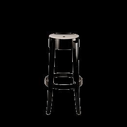 Barhocker Cristal schwarz lackiert H 75 cm