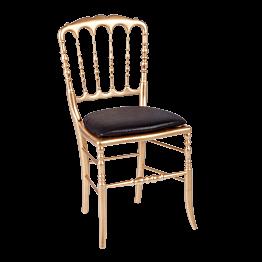 Stuhl Napoleon III gold Chintz Schwarz