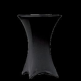 Stehtisch mit schwarzer Husse Ø 75 H 110 cm feuerfest
