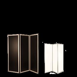 Paravent schwarz und weiss 3-teilig L 210 cm (70 x 3) Höhe 186cm