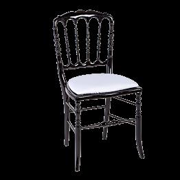 Stuhl Napoleon III schwarz fix Chintz weiss