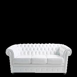 Sofa Chesterfield weiss L 202 B 92 H 76 cm