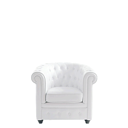 Sessel Chesterfield weiss L 82 B 75 H 75 cm