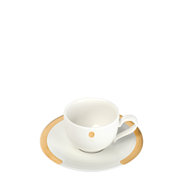 Espresso Ober- und Untertasse Linie