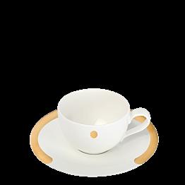 Kaffee Ober- und Untertasse Linie