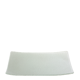 Glasteller rechteckig grau 24 x 32 cm
