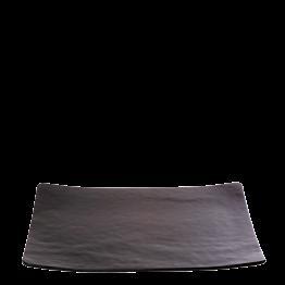 Glasteller rechteckig schwarz 24 x 32 cm