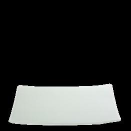 Glasteller rechteckig weiss 24 x 32 cm