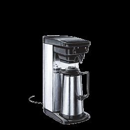 Kaffeemaschine mit Thermoskanne + 1 Paket mit 4 Dosen Kaffee