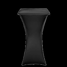 Stehtisch Stahl viereckig mit Husse schwarz 60 x 60 cm H 111 cm