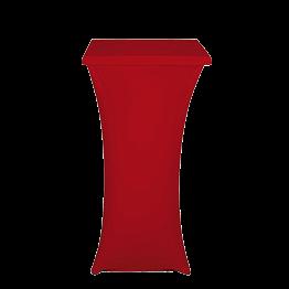 Stehtisch Stahl mit Überzug rot H 111cm 60 x 60 cm feuerfest