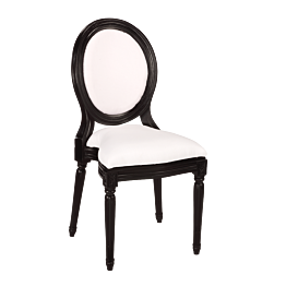 Stuhl Montaigne schwarz und weiss