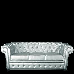 Sofa Chesterfield silber L 202 B 92 H 76 cm