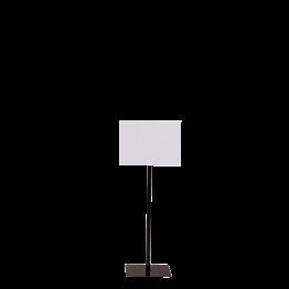 Tafel mit schwarzem Fuss Format 30 x 40 cm H 90 bis 150 cm