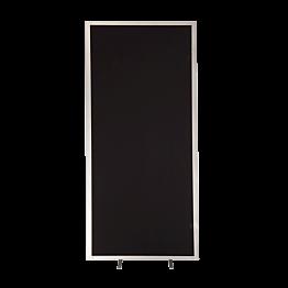 Trennwand vertikal schwarz Aluminium L 102 cm H 201 cm