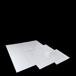Pyramide aus Plexiglasplatten