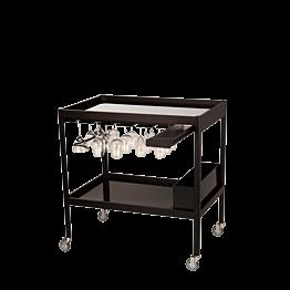 Cocktailwagen schwarz 60 x 90 cm H 95 cm