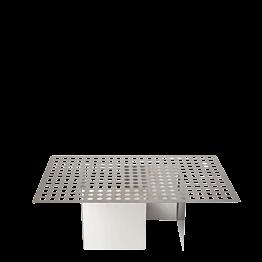 Serviertablett Stahl gelöchert 35 x 55 cm