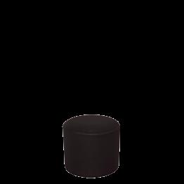Sitzkissen rund mit schwarzer Husse Ø 50 cm H 45 cm
