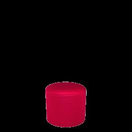 Sitzkissen rund mit roter Husse Ø 50 cm H 45 cm