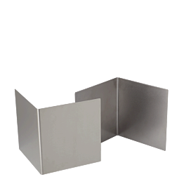 Podest aus Edelstahl 20 x 18,5 cm H 20 cm (2 Stück)