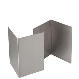 Podest aus Edelstahl 20 x 20 cm H 30 cm (2 Stück)