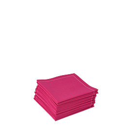 Stoffservietten 2-faltig fuchsia 20 x 20 cm (30 Stück)