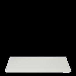 Tablett aus Kunstharz, weiss 30 x 40 cm