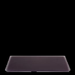 Tablett aus Kunstharz, pflaumenfarbe 30 x 40 cm