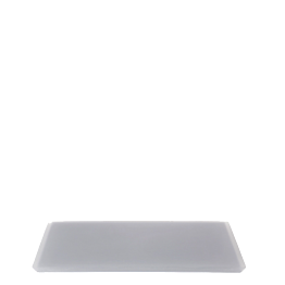 Tablett aus Kunstharz, anthrazit 20 x 30 cm