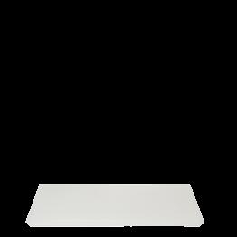 Tablett aus Kunstharz weiss 20 x 30 cm