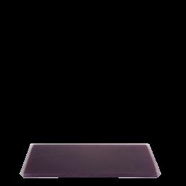 Tablett aus Kunstharz pflaumenfarbe 20 x 30 cm