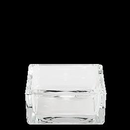 Aschenbecher Glas 8 x 8 cm H 3,5 cm